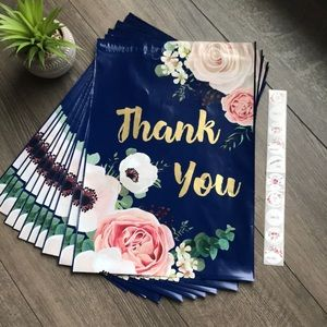 POLY Mailers - Blue and gold floral - (10) - 10x13